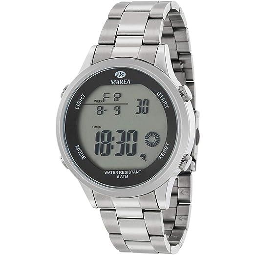 Marea B35302/3 Reloj para Hombre con Armis de Acero y Pantalla Digital: Amazon.es: Relojes