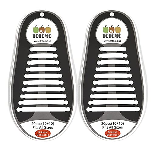 5a3f1cd49680 Amazon.com  TOTOMO No-Tie Elastic Silicone Shoe Laces