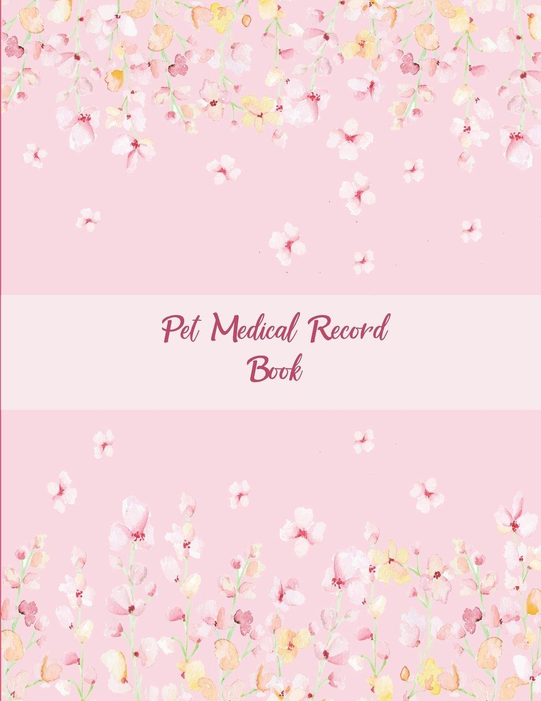 pet medical record book pink color book pet health record pet