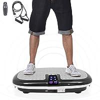 ISE Fitness avec Plateforme de Vibration,Matériel d'exercice pour la Maison,Plaque vibrante,4 programmes,Équilibrer Votre Poids, télécommande et Sangles d'équilibre incluses