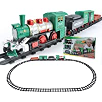 Magicwand Battery Operated Classical Toy Train Set with Light ,Sound & Smoke