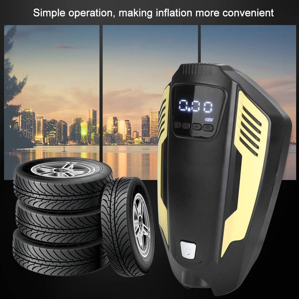 Auto Gonfleur Pneus pour Voiture//SUV//Moto//Airbed//V/élo etc Electrique Compresseur Air Num/érique avec Lampe LED Greensen Compresseur d/'Air Portatif 5V 120W