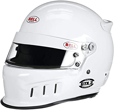 Bell GTX.3 SA2015 Racing Helmet, White, Size 7 1/2