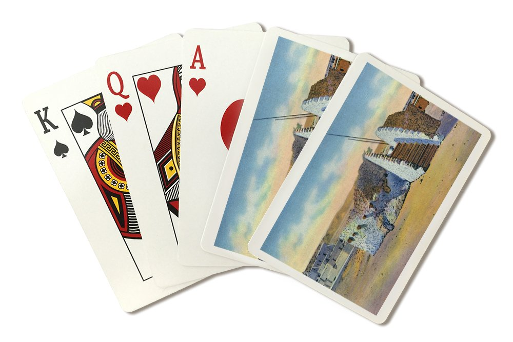 Amazon.com: New Mexico - View of a Pueblo Indian Estufa or Kiva (Playing Card Deck - 52 Card Poker Size with Jokers): Arts, Crafts & Sewing