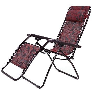 WJJH Sun Lounger Recliners Chaise Pliante Bureau Siesta Lit Maison Jardin Djeuner Pause Couch