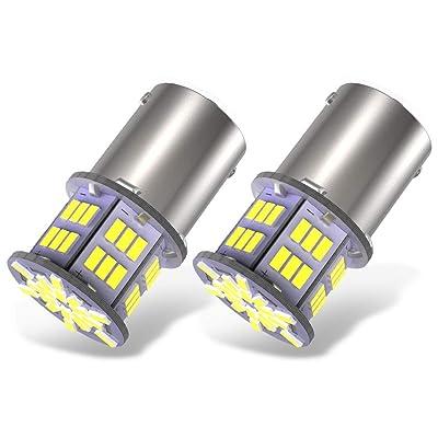 YITAMOTOR 2x 1156 LED Bulb White, 1003 BA15S 1141 7506 LED Replacement Light Bulbs for RV Car Camper Trailer Interior Indoor Lights, Super Bright 6000K, 3014 54-SMD 12V-24V: Automotive