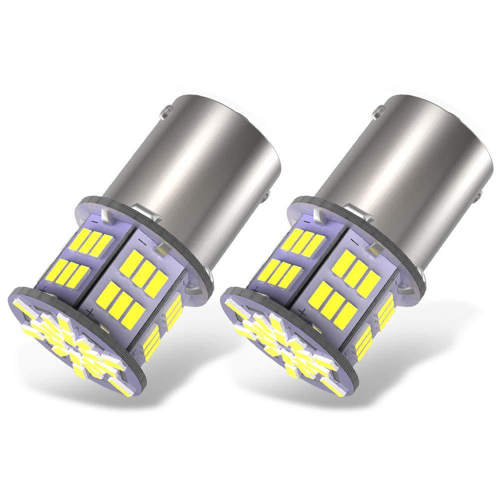 YITAMOTOR 2x 1156 LED Replacement light Bulb 3014 54-SMD 12v-24v Reverse bulbs BA15S 1141 7506 for Car Camper RV Trailer Interior Indoor Lights Super Bright 6000K Xenon White