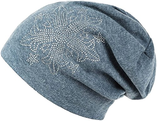Ababalaya Women Autumn Winter Flower Drills Wool Cap Knit Hat Hip Hop Hat in 6 Colors (Blue) (Wool Drill Hat)