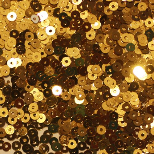 3mm FLAT SEQUINS Gold Loose sequins for embroidery, applique, arts, crafts, and embellishment. - Flat Loose Sequins