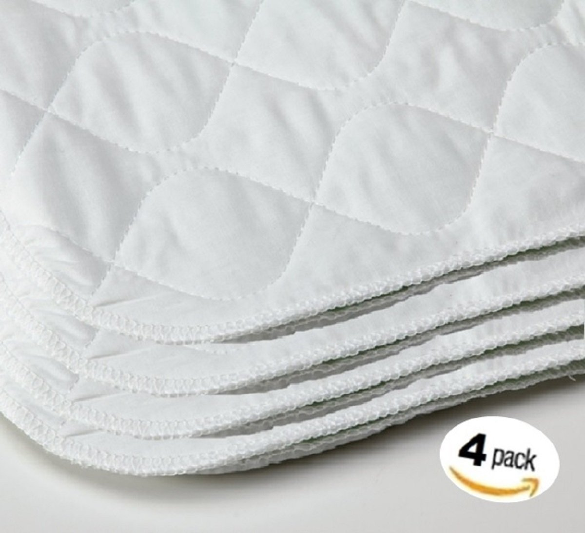 Deluxe Adsorbent Waterproof Bed Underpad - Mattress Sheet Protector - Will Absorb 6 Cups of Liquid - 34 x 36 inch, 4PK