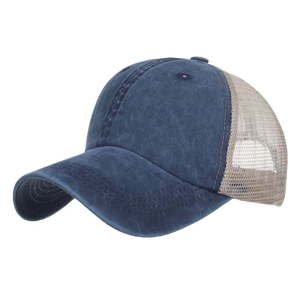 Outdoor Sport Hats Unisex Summer Baseball Cap Washed Cotton Hat Casual Cap Navy