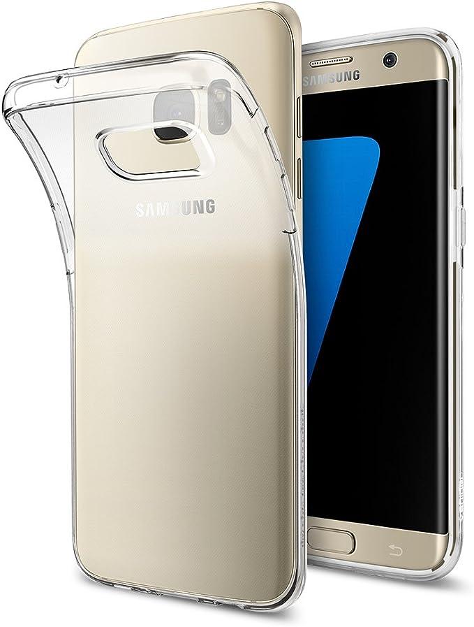 Spigen Funda Galaxy S7 Edge, Carcasa [Liquid Crystal] Slim Protection and Premium Clarity for Samsung Galaxy S7 Edge, Transparente: Amazon.es: Electrónica