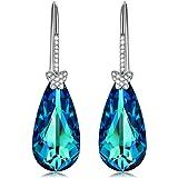 Alex Perry Pendientes Regalo para Ella, Deseando la Mariposa 925 Plata Azul Electrico Cristales de Swarovski, Regalos de…
