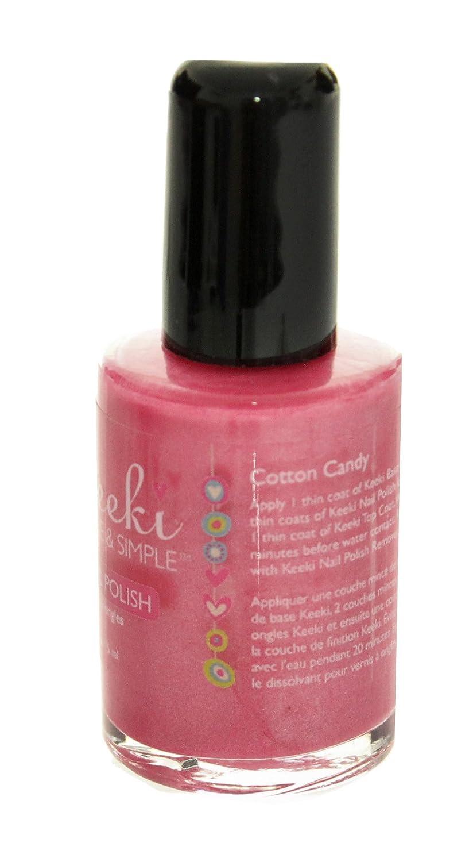 Amazon.com : Keeki Pure & Simple Nail Polish, Cotton Candy, .5 Fluid ...