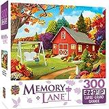 "MasterPieces PuzzleCompany Memory Lane Harvest Breeze Puzzle (300 Piece), Multicolored, 18""X24"""