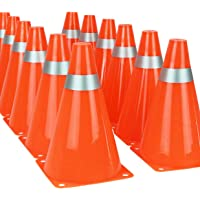 """Kiddie Play 7"""" Traffic Cones for Sport Training Soccer Cones (12 Pack)"""