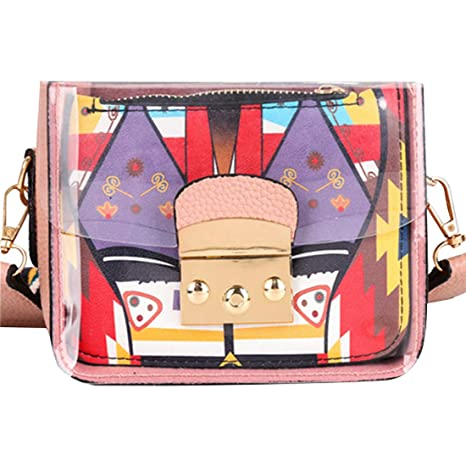 2faa2cd7dc1a Women Mini Transparent PVC Plastic Cross body Durable Summer Shoulder Bag  (Pink)