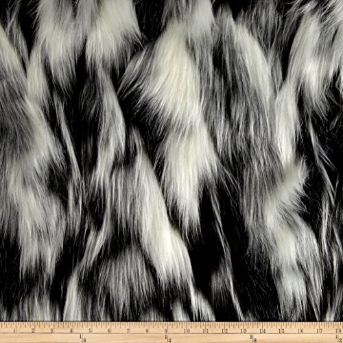 Shannon Luxury Faux Fur Tibetan Sand Fox White/Pewter ()