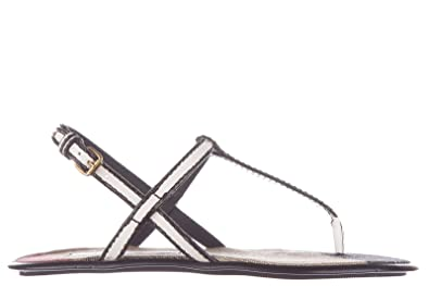 3a38710b027f8 Burberry women's leather flip flops sandals white