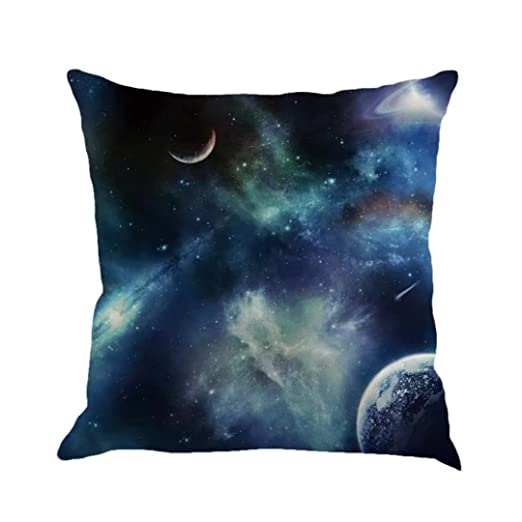 HLHN Galaxy Luna Estrellada Funda de Almohada Pillowslip ...