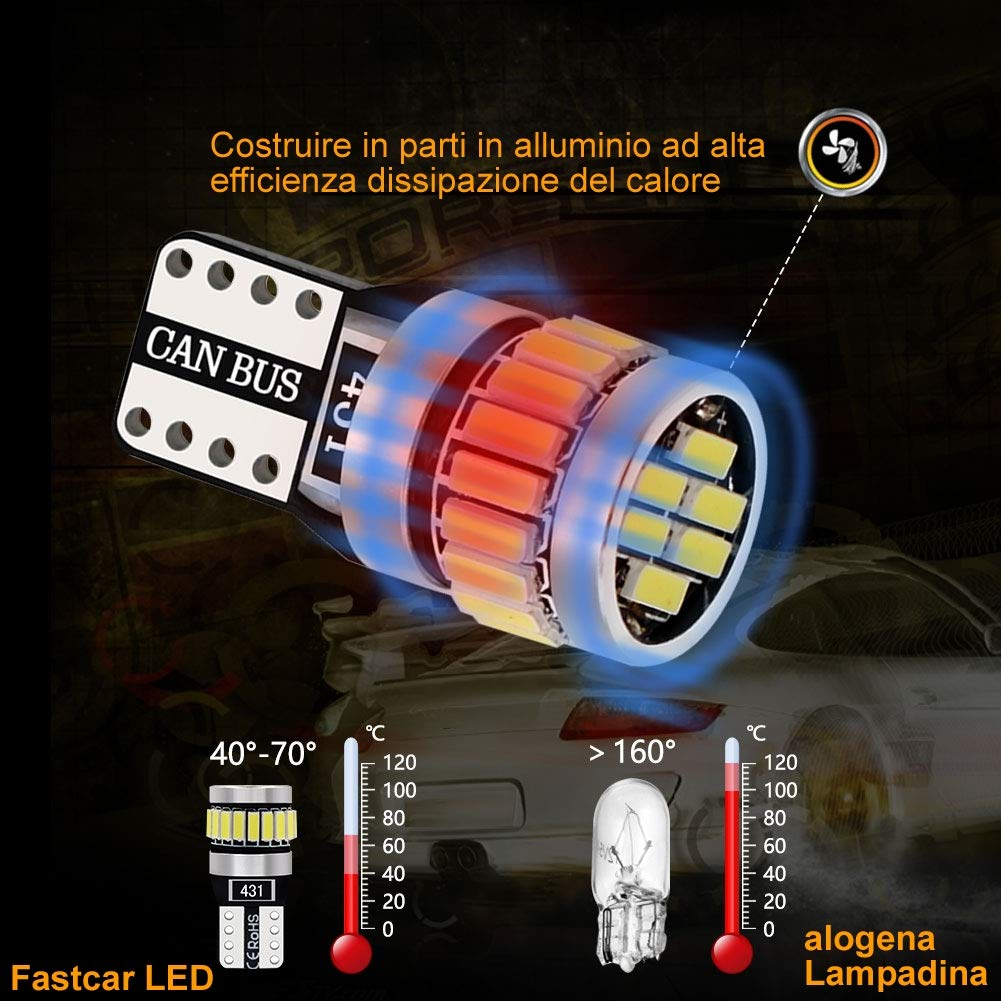 4pcs 194 W5W T10 led canbus no error Bombillas de cuña 24 leds 4014SMD Luces de posición Placa de la lámpara del coche Juego Interior del coche 6000k 12V ...