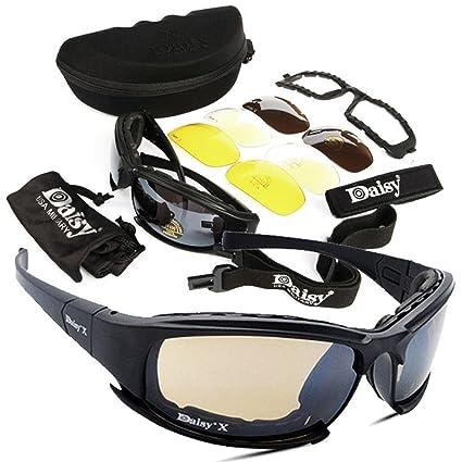 Gafas de Ciclismo-Vovotrade 4 Lens Kit Army Goggles Militares Gafas de Sol Hombres Deportes