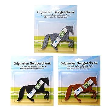 1 X Origenlles Geldgeschenk Aus Filz Motiv Pferd Amazon De Spielzeug