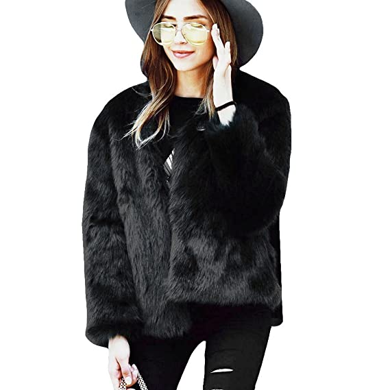 Veste en fourrure courte femme