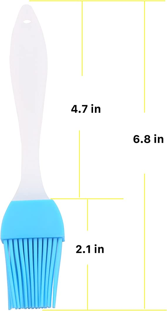 2~6 PCS Oil Brush Silicone Baking Pastry Cream For BBQ Basting Kitchen Party