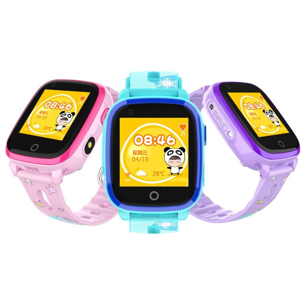 Globalqi 4G Montre de téléphone Intelligent Enfants Positionnement GPS + WiFi Appel vidéo Étanche Prendre Une Photo Éducation précoce: Amazon.fr: High-tech