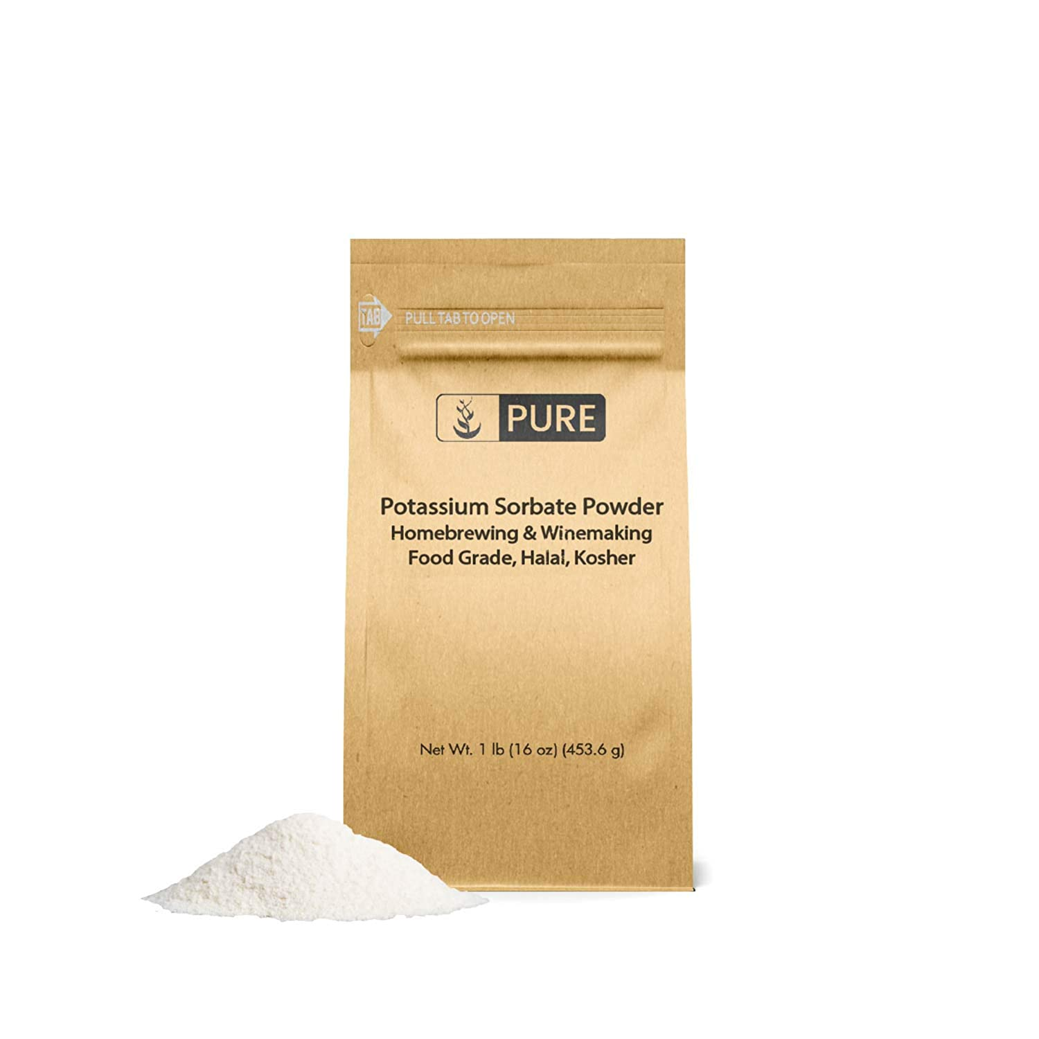 Potassium Sorbate (1 lb) by Pure Ingredients, Food and USP Pharmaceutical Grade For Use in Cooking, Brewing, & Cosmetics