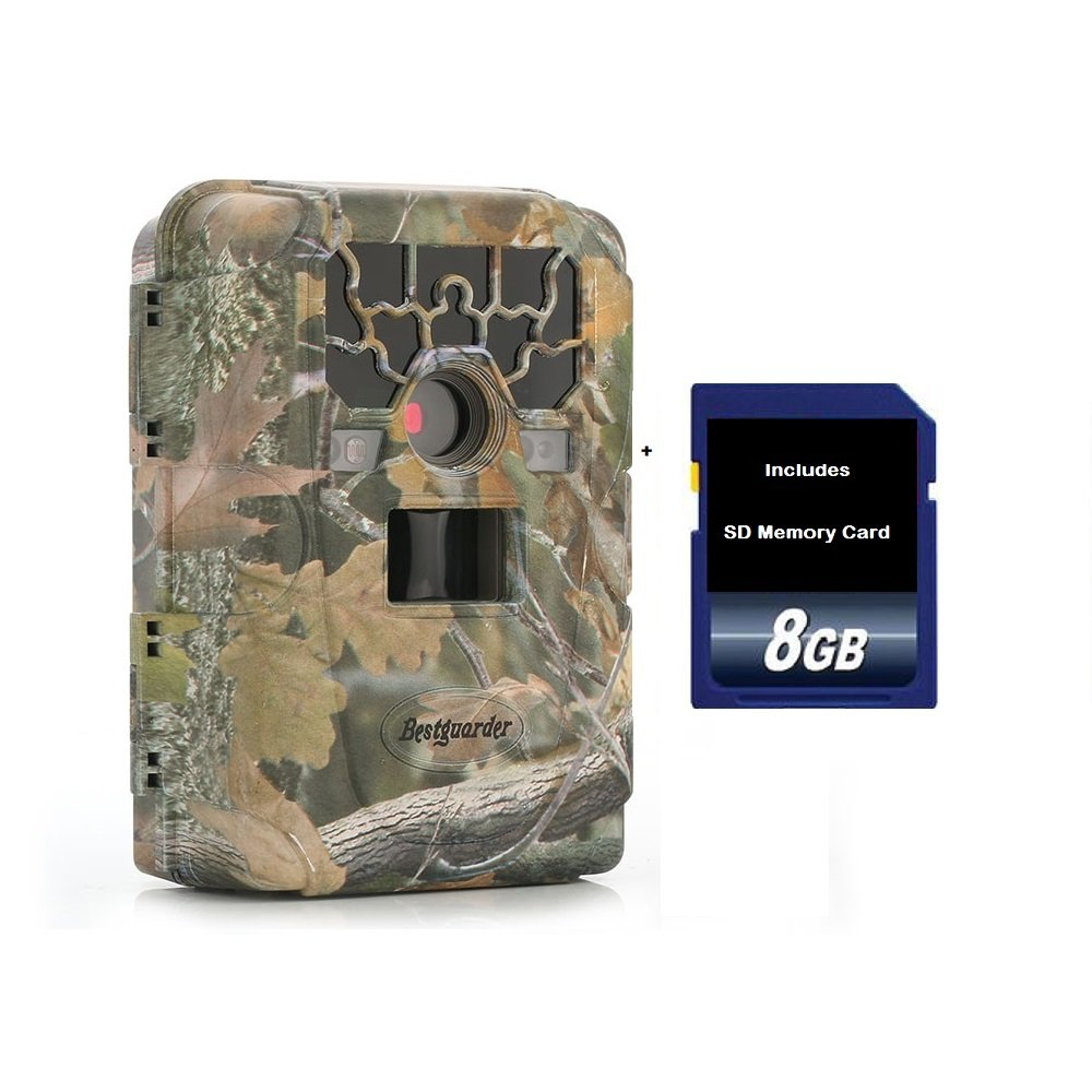 Trail Camera - Game Camera for Hunting & Security Surveillance by Allied Forces - Includes No Glow Night Vision - LCD Viewer Screen - SD Memory Card - Password Lock