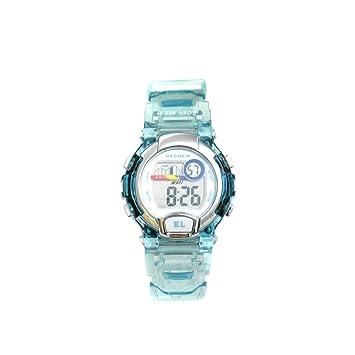 Pasnew 170G - Reloj digital para niños (sumergible hasta 30 m, correa transparente) light blue transparent Talla:37 x 14 mm: Amazon.es: Relojes
