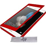 Etui Housse ExtraSlim Vitre Tactile et Stand Huawei P8 Lite 4G - Rouge