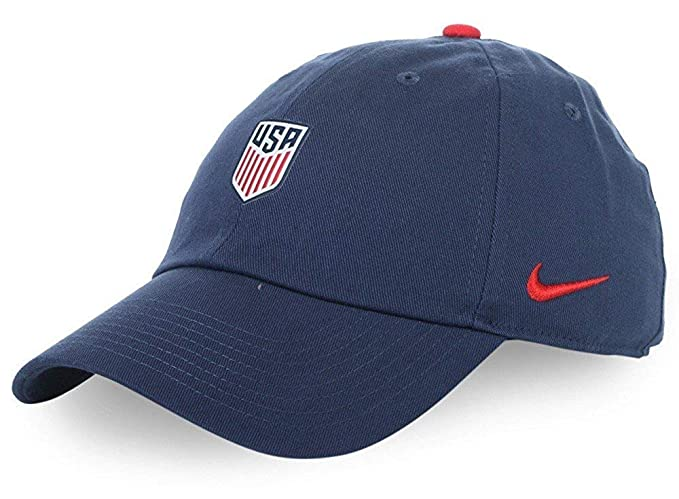 bde023f0f0d Amazon.com  NIKE Mens USA U NK H86 Cap Core 881722-410 - Midnight ...