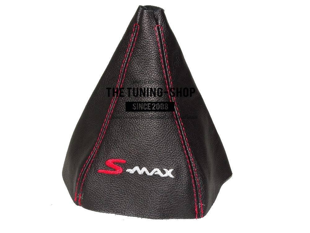 F/ür Ford S-Max Fl 2009 15/Schaltsack schwarz Italienisches Leder rot S-Max Logo Edition
