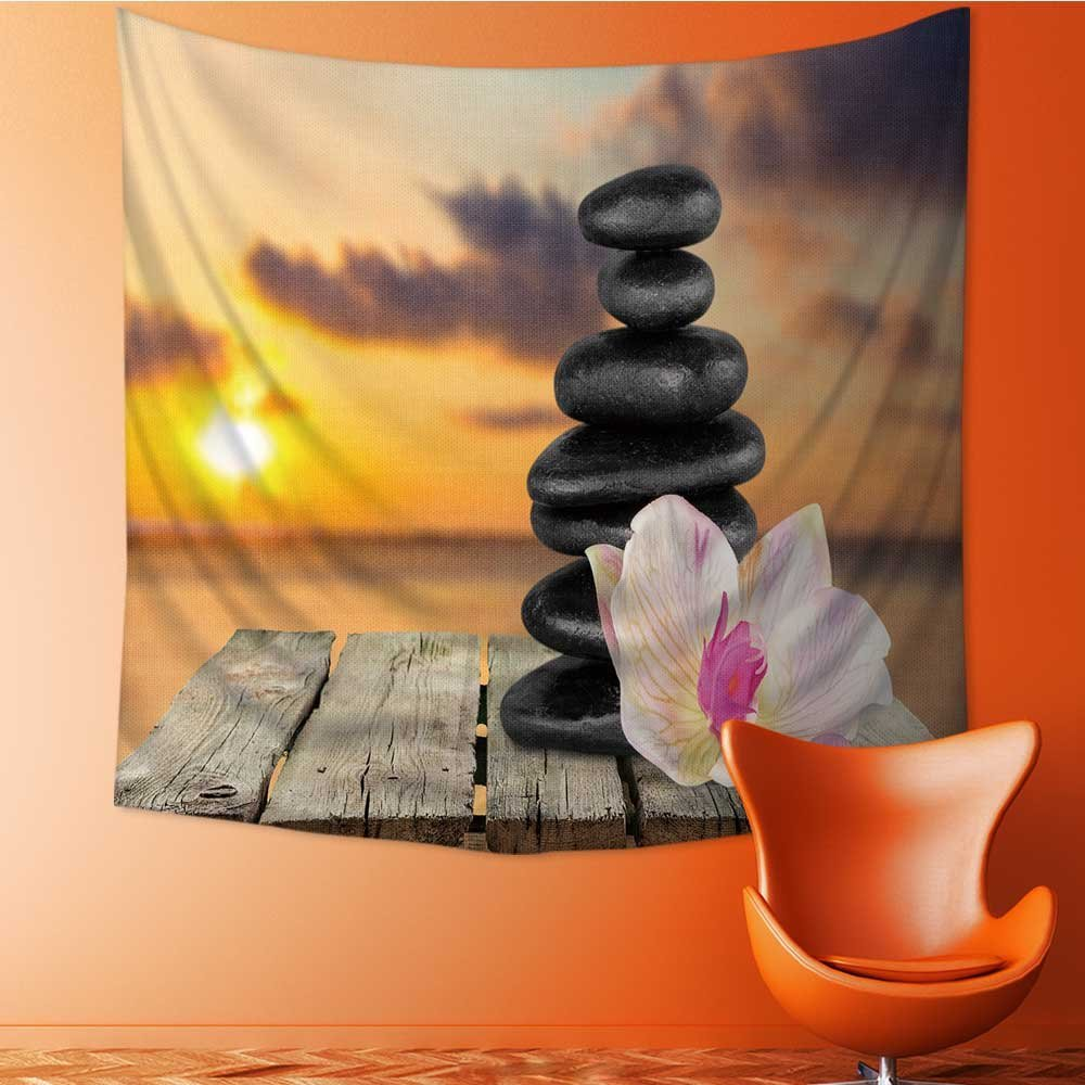 Muyindo Wall Tapestry spa treatment health spa stone Room Dorm Accessories Wall Hanging Tapestry/43.3W x 43.3L INCH
