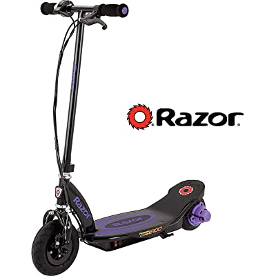 Razor Power Core E100 Electric Scooter - Black Deck - Purple : Sports & Outdoors