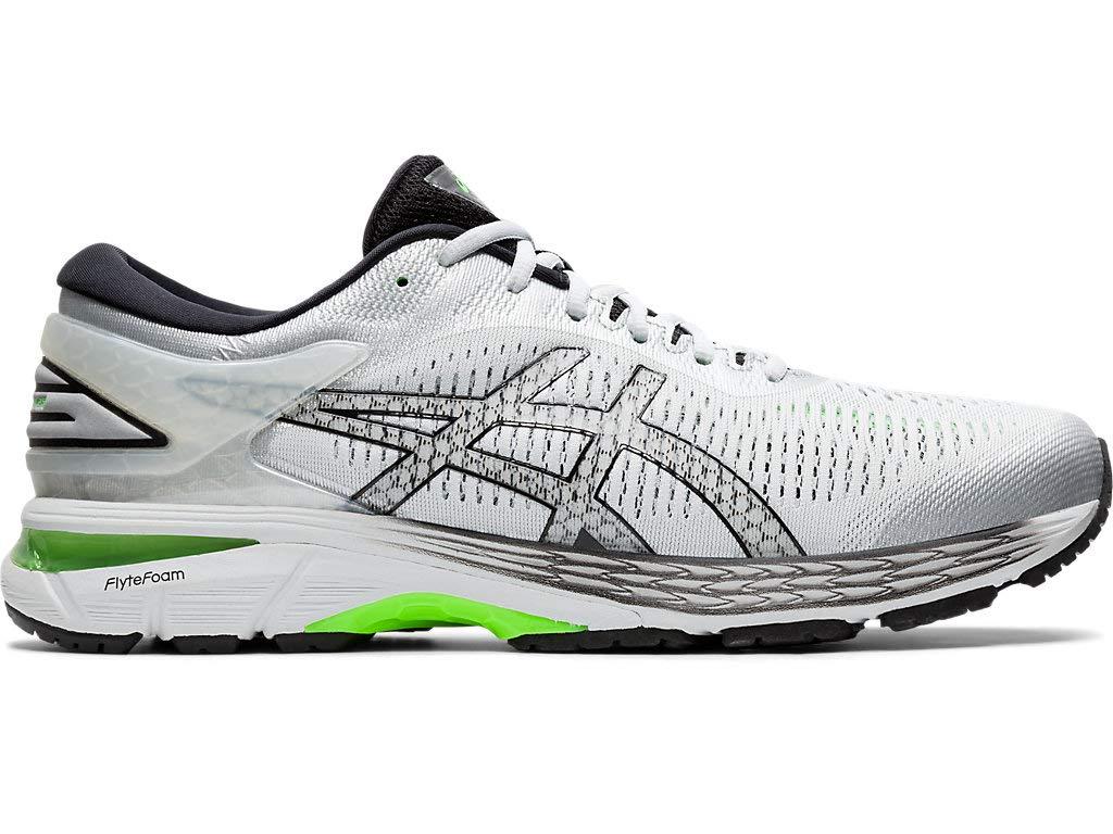 ASICS Men's Gel-Kayano 25 Running Shoes, 10.5M, Silver/Green Gecko by ASICS