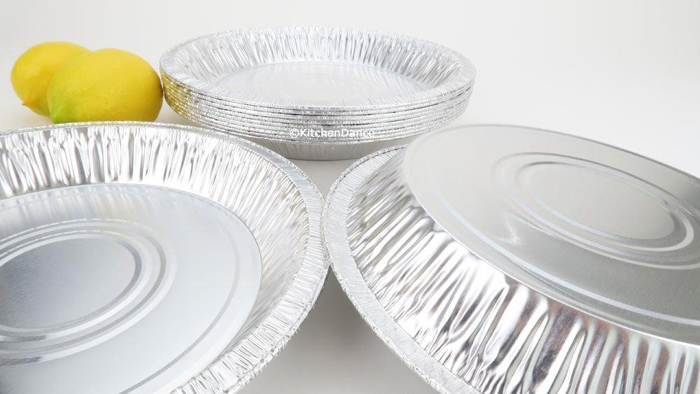 10'' (Actual 9-5/8'' Rim To Rim) Disposable Aluminum Good Quality Pie Pans #1042- Case of 500 by D&W Fine Pack (Image #5)