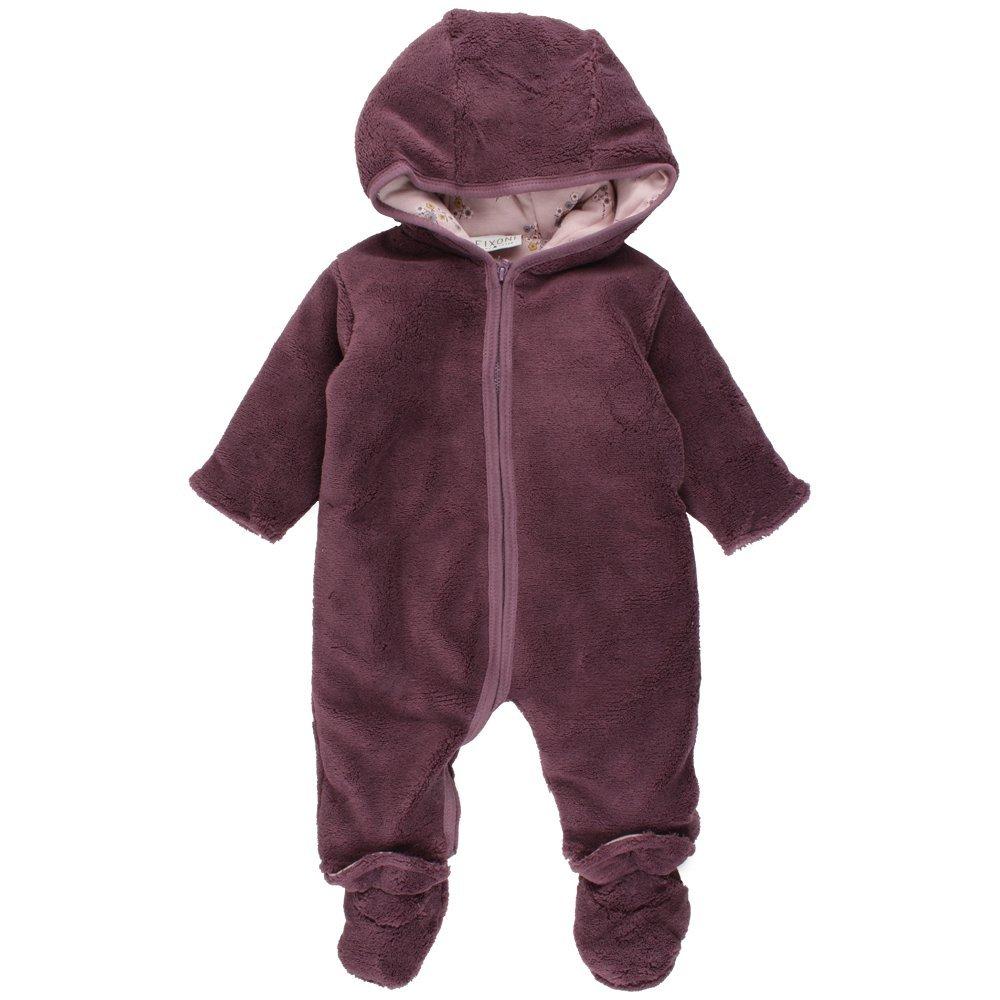 Fixoni Baby-Mädchen Schneeanzug Future Wholesuit Violett (20-55 Black Plum) 62 33066