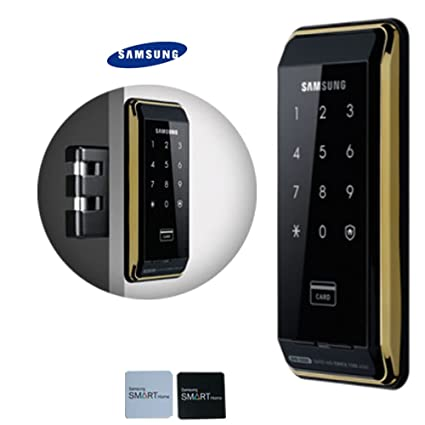2pcs of Sticky Key Tags + SAMSUNG SHS-D500 digital door lock keyless touchpad security