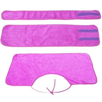 Znyo Toalla de baño Set de 3 Toallas de Microfibra para la Venda Facial con Banda