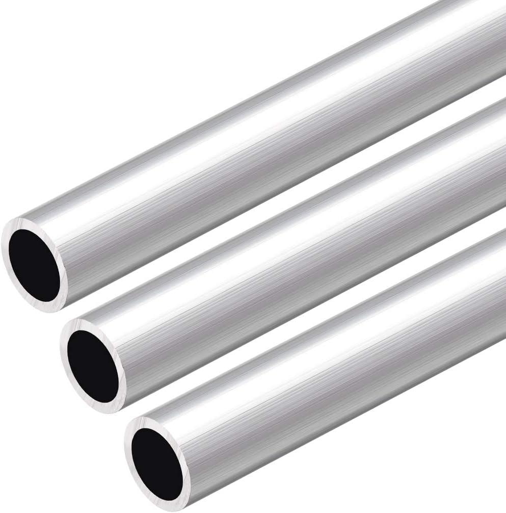 sourcing map 6063 Aluminum Round Tube 300mm Length 12.7mm OD 8.8mm Inner Dia Seamless Aluminum Straight Tubing 3 Pcs
