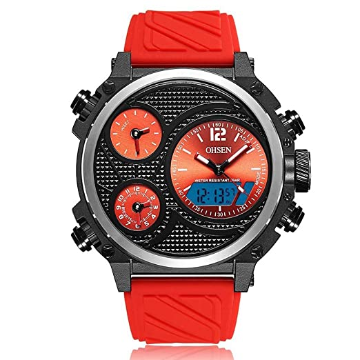 sportuhr ad1801 Casual Silicona Correa Cuarzo Reloj electronico Reloj de Hombre: Amazon.es: Relojes