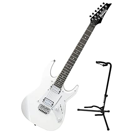 Amazon Com Ibanez Grx20w Wh Electric Guitar White W Guitar Stand