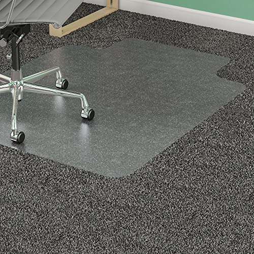 Lorell Diamond Anti-static Chair Mat - 48quot; Length x 36quot; Width x 0.12quot; Thickness Overall - 12quot; Length x 20quot; Width Lip - Clear - Anti Static Diamond Chair Mats