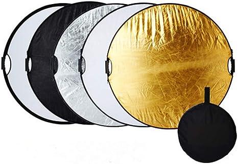 60cm 5-en-1 Plegable Redondo Reflector de Luz Fotográfica Estudio con Funda