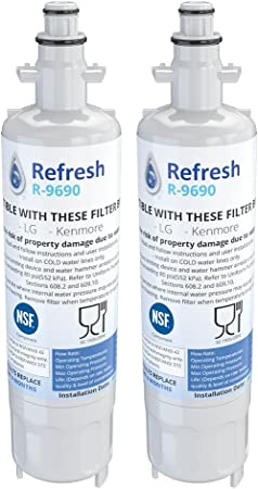 Fits LG LFX31945ST Refrigerators 2 Pack Refresh Replacement Water Filter