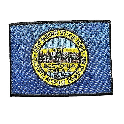 City of Boston Flag Patch/Massachusetts Cities Sew-On Patch Collection (Bos MA, 2